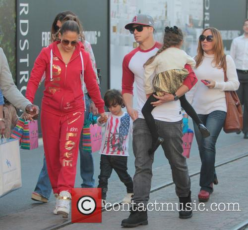 Jennifer Lopez, Maximilian Anthony, Emme Anthony, Casper Smart