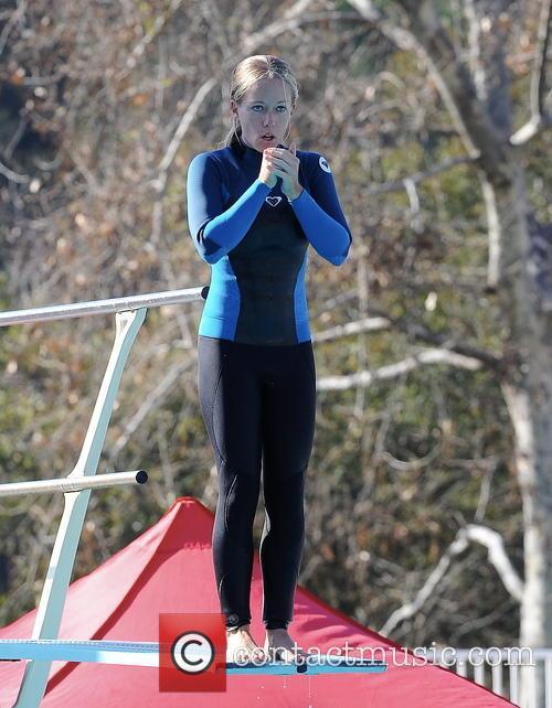 kendra wilkinson kendra wilkinson practice her diving 3526161