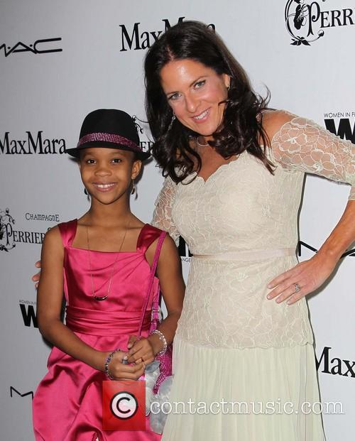 Quvenzhane Wallis and Cathy Schulman 1