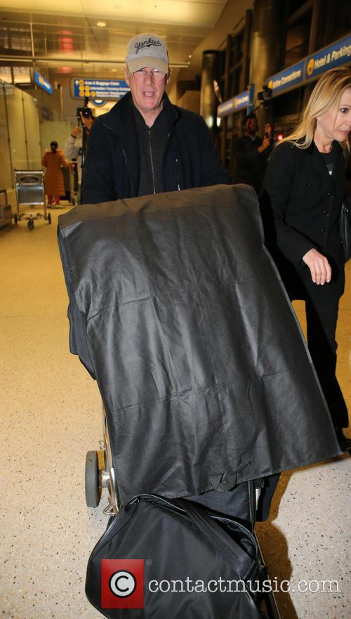 Richard Gere arrives at LAX airport