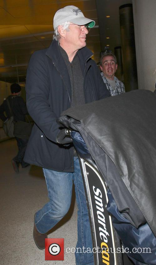 Richard Gere seen arriving at LAX airport