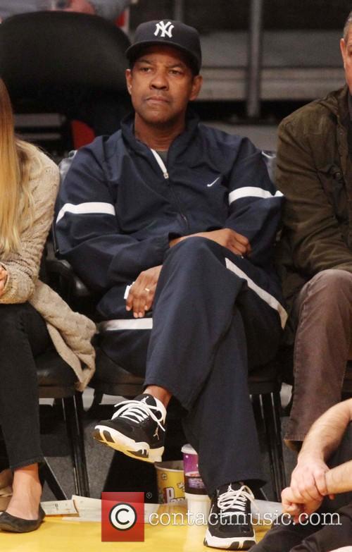 Celebrities watch the LA Lakers vs. Portland Trail...