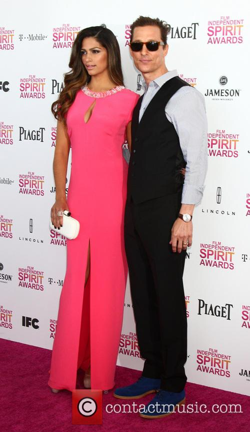 Camila Alves, Matthew McConaughey, Tent on the Beach, Independent Spirit Awards
