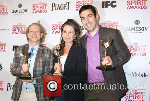 Producers Bruce Cohen, Donna Gigliotti and Jonathan Gordon Pose With The Best Feature Award For 'silver Linings Playbook' 2