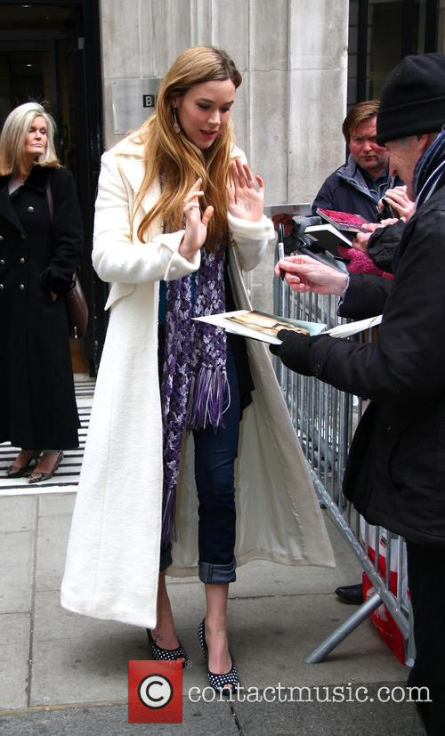 Joss Stone outside the BBC Radio Two studios