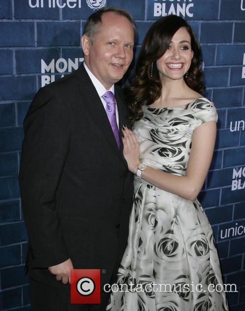 President, Ceo Of Montblanc North America Jan-patrick Schmitz and Emmy Rossum 1