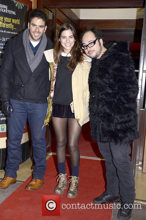 Eli Roth, Lorenza Izzo and Nicolas Lopez 5