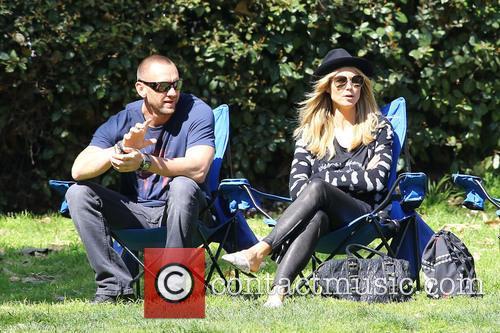 Heidi Klum, along with her boyfriend Martin Kristen, enjoys a day watching her children play soccer