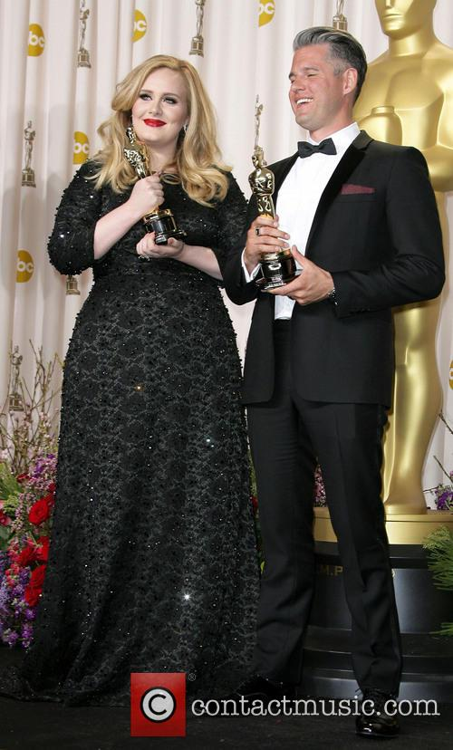 Adele and 'Skyfall' co-writer Paul Epworth win Best Original Song at the Oscars 2013