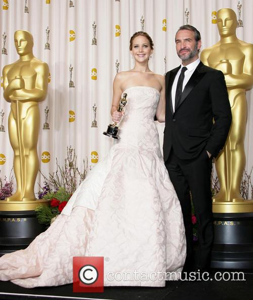 Jennifer Lawrence and Jean Dujardin 2