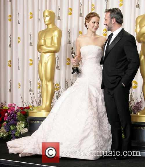 Jennifer Lawrence and Jean Dujardin