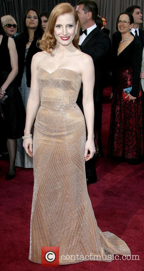 jessica chastain oscars red carpet arrivals 3522148