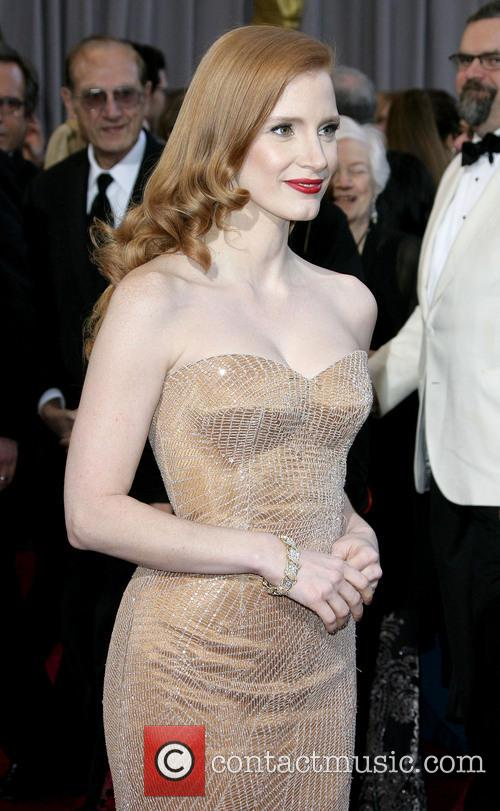 jessica chastain oscars red carpet arrivals 3522155