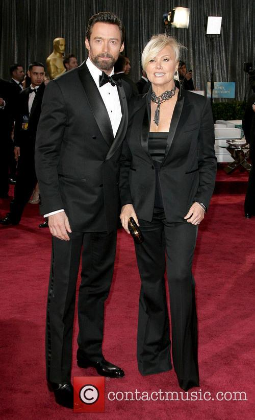 Hugh Jackman, Deborra-Lee Furness, Oscars