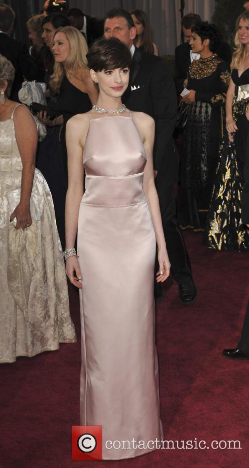 anne hathaway the 85th annual oscars at 3526369