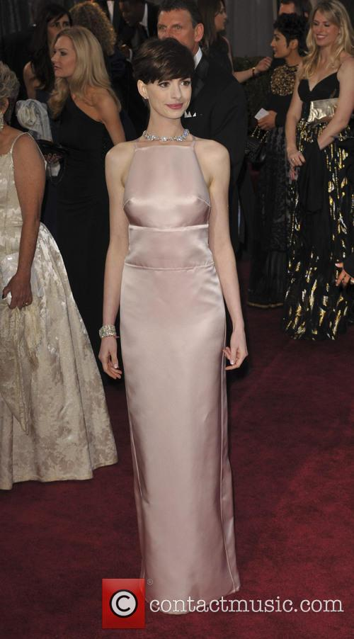 anne hathaway the 85th annual oscars at 3526573