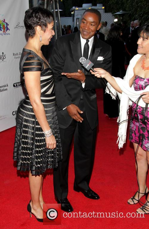 Uniting Nations, Isiah Thomas and Wife Lynn 3