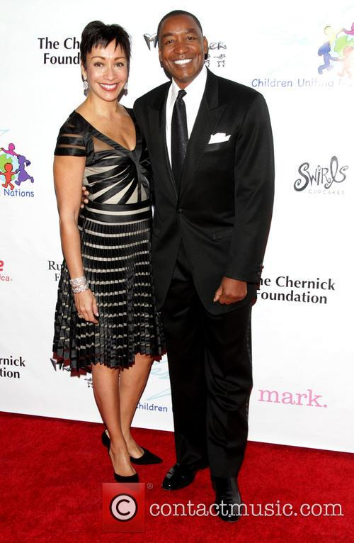 Uniting Nations, Isiah Thomas and Wife Lynn 6