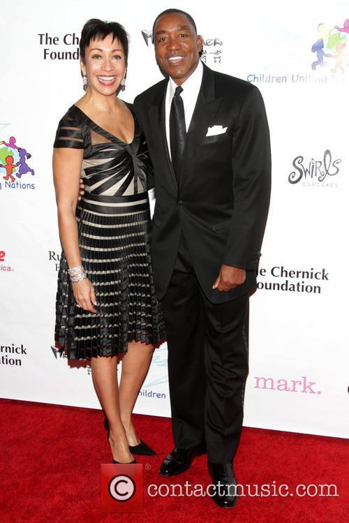Uniting Nations, Isiah Thomas and Wife Lynn 7