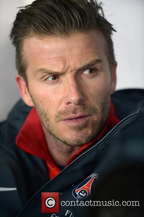 David Beckham plays his first match for Paris Saint-Germain (PSG)