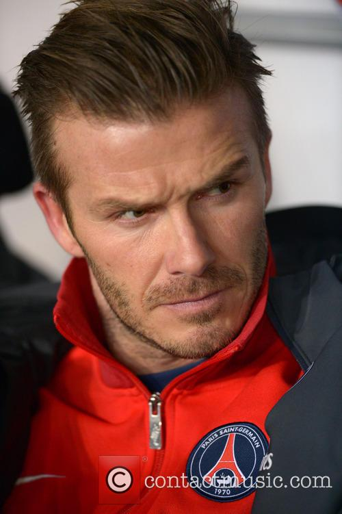 David Beckham plays his first match for Paris...