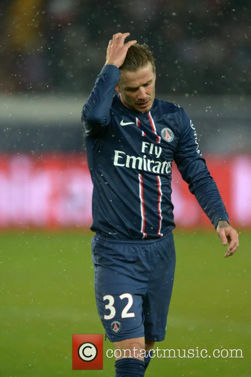 David Beckham plays his first match for Paris Saint-Germain (PSG)