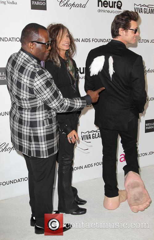 Jim Carrey, Steven Tyler and Randy Jackson 3