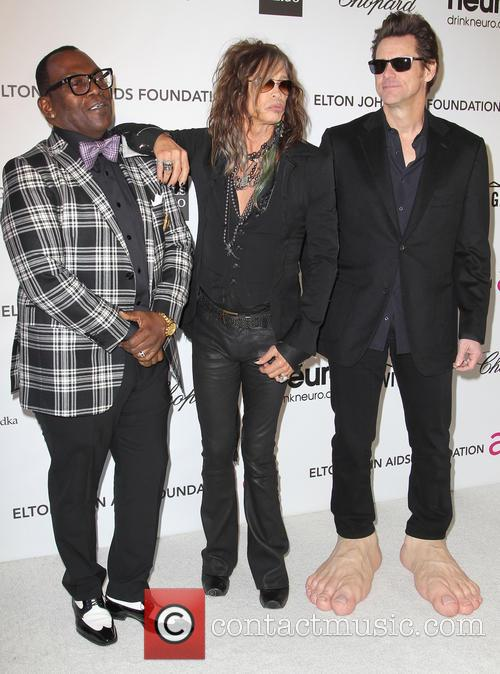 Jim Carrey, Steven Tyler and Randy Jackson 7