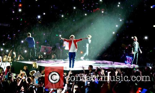 One Direction performing during the second night of their Take Me Home World Tour