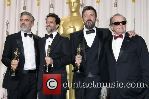 Grant Heslov, Ben Affleck, George Clooney and Jack Nicholson 3