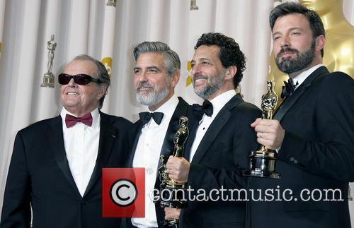 Jack Nicholson, George Clooney, Grant Heslov and Ben Affleck 2
