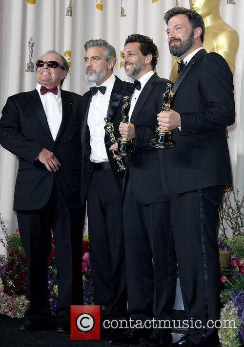 Jack Nicholson, George Clooney, Grant Heslov and Ben Affleck 3