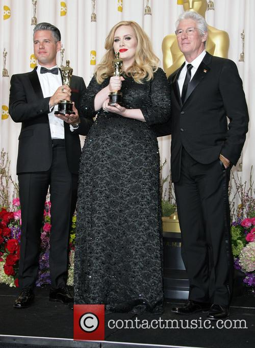Paul Epworth, Adele Adkins and Richard Gere 1