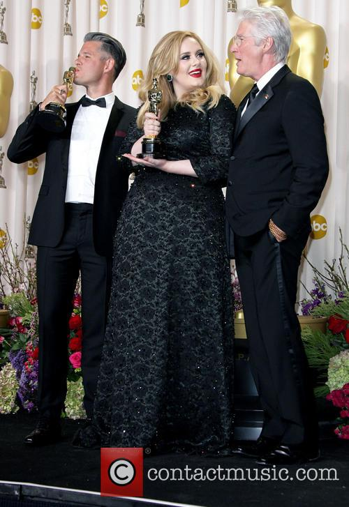 Paul Epworth, Adele Adkins and Richard Gere 3