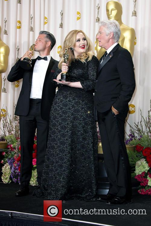 Paul Epworth, Adele Adkins and Richard Gere 4