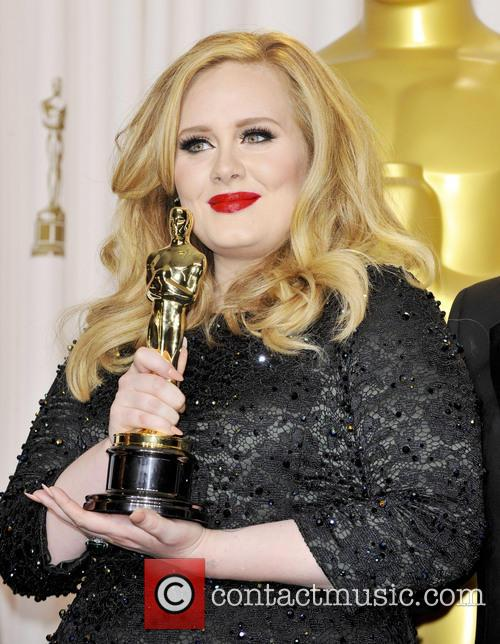 Grammy and Oscar winning singer Adele, holds the number four spot