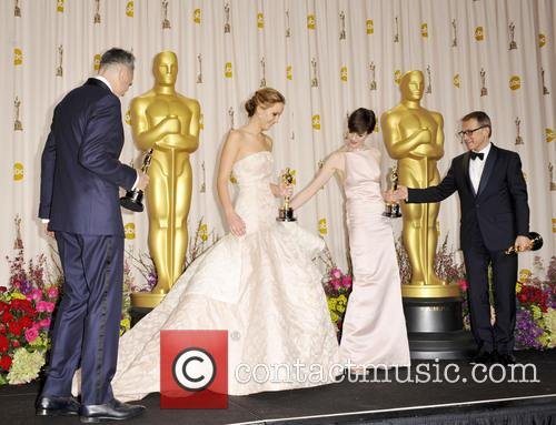 Daniel Day-lewis, Jennifer Lawrence, Anne Hathaway and Christoph Waltz 3