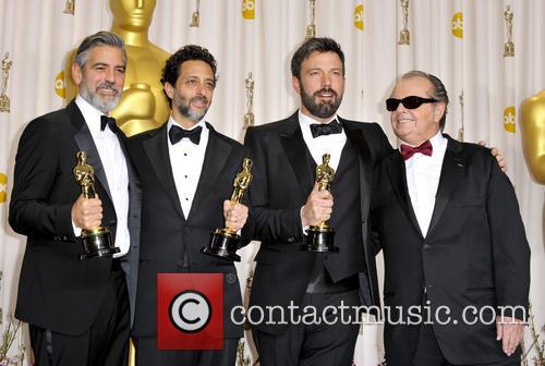 George Clooney, Grant Heslov, Ben Affleck and Jack Nicholson 2