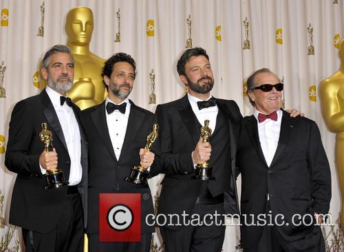 George Clooney, Grant Heslov, Ben Affleck and Jack Nicholson 5