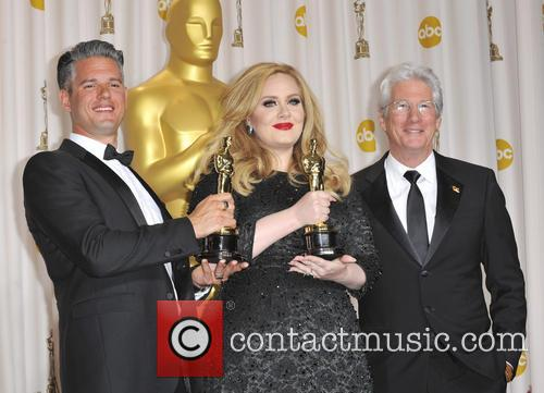 Paul Epworth, Adele Adkins and Richard Gere 7