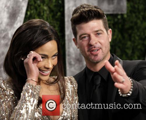 Robin Thicke Paula Patton Laughing