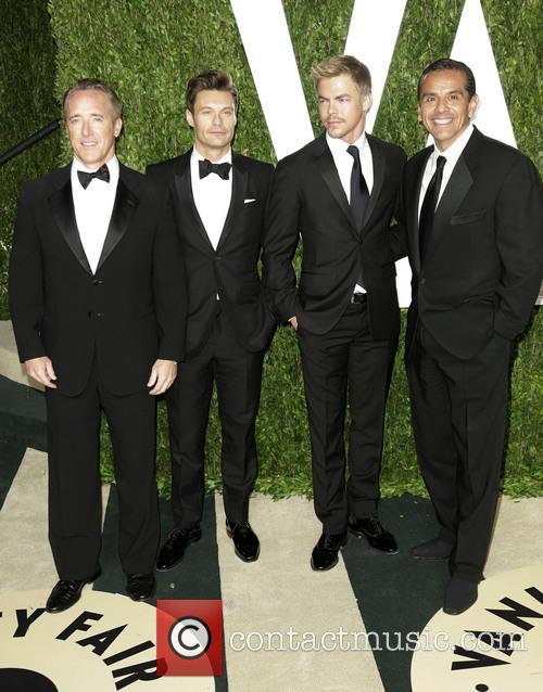 Ryan Seacrest, Derek Hough and Antonio Villaraigosa 3