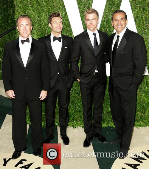 Ryan Seacrest, Derek Hough and Antonio Villaraigosa 1