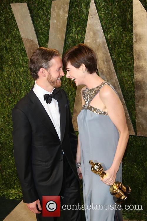 Anne Hathaway and Adam Shulman 1