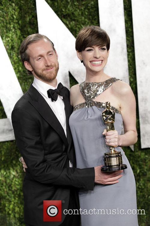 Anne Hathaway and Adam Shulman 1