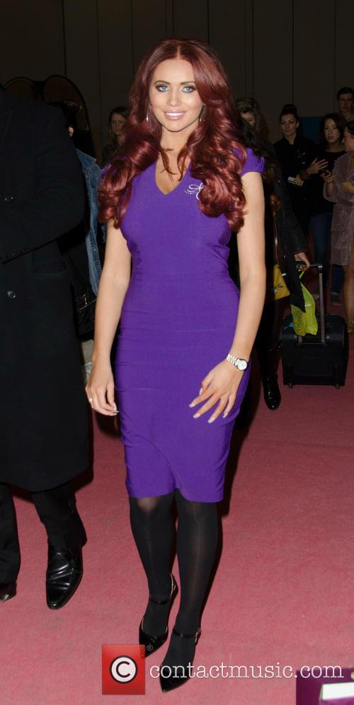 Amy Childs at the Professional Beauty 2013 show
