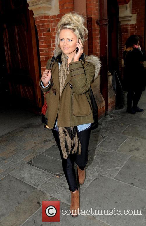 Emily Atack at St Pancras