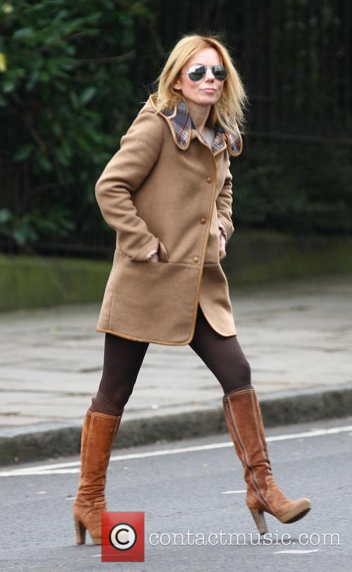 Geri Halliwell out and about in North London