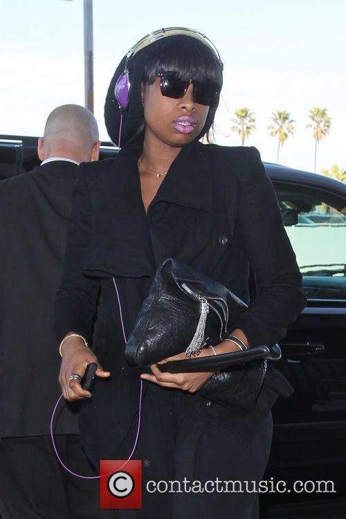 Jennifer Hudson arrives at LAX airport