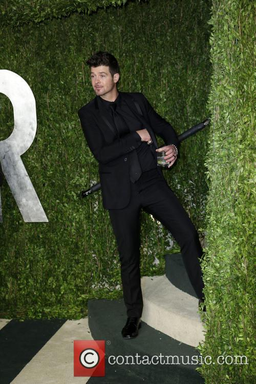 Robin Thicke, Vanity Fair Oscar Party